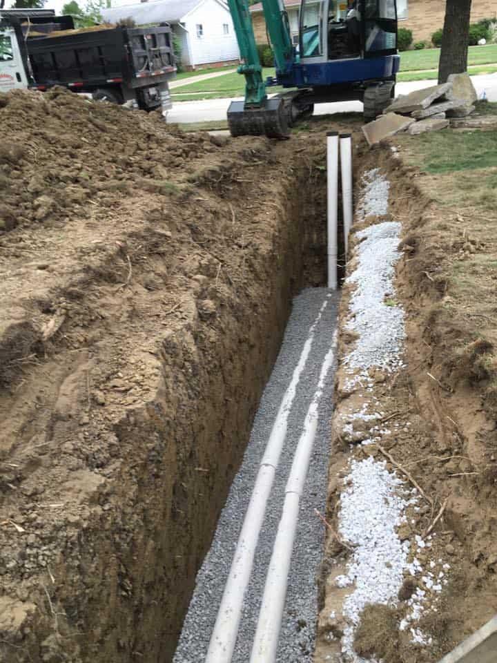 drainage installation sewer installation